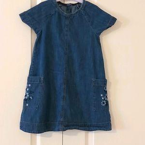Mothercare Girls Denim Dress